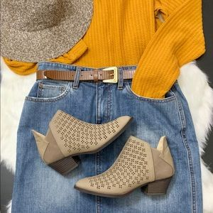 Tan Nude Booties Ankle Boots